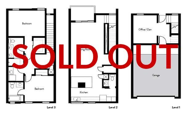 Midtown Townhome Floorplan